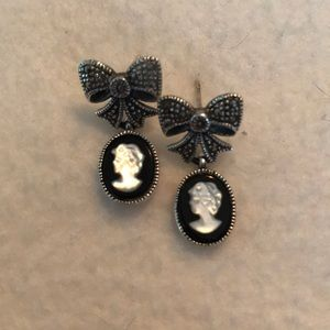 Vintage Cameo Pierced Earrings